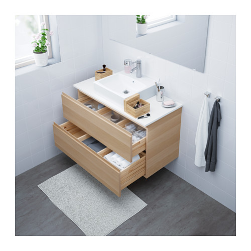 GODMORGON - wash-stand with 2 drawers, white stained oak effect | IKEA Hong Kong and Macau - PE624047_S4