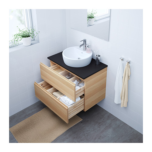 GODMORGON - wash-stand with 2 drawers, white stained oak effect | IKEA Hong Kong and Macau - PE624097_S4