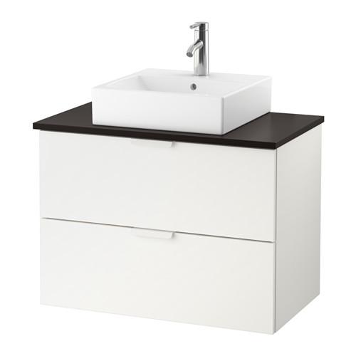 GODMORGON/TOLKEN/TÖRNVIKEN - wsh-stnd w countrtop 45x45 wsh-bsn, white/anthracite Dalskär tap | IKEA Hong Kong and Macau - PE624145_S4