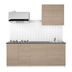 KNOXHULT - kitchen, wood effect grey | IKEA Hong Kong and Macau - PE621451_S3