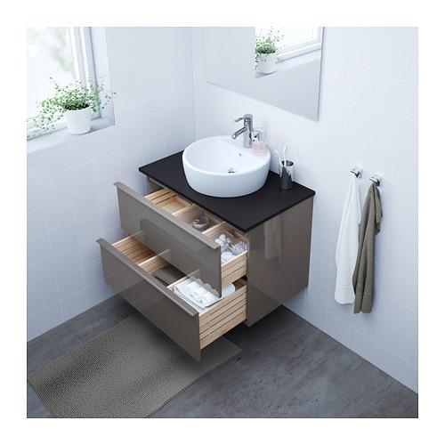 GODMORGON/TOLKEN/TÖRNVIKEN 洗手盆櫃連櫃台板/45cm洗手盆