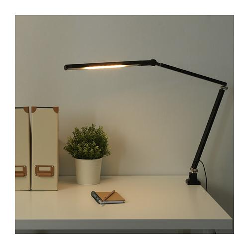 HALLBY - LED work lamp, dimmable black | IKEA Hong Kong and Macau - PE721416_S4