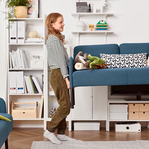 GLOSTAD - 2-seat sofa, Knisa medium blue   IKEA Hong Kong and Macau - PE816637_S4