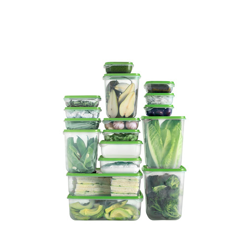 PRUTA - food container, set of 17, transparent/green | IKEA Hong Kong and Macau - PH143104_S4
