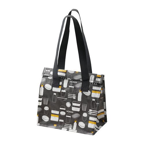 FLADDRIG - lunch bag, patterned grey | IKEA Hong Kong and Macau - PE816684_S4