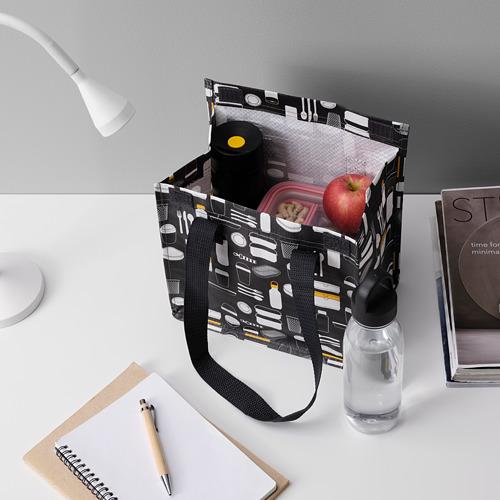 FLADDRIG - lunch bag, patterned grey | IKEA Hong Kong and Macau - PE816685_S4