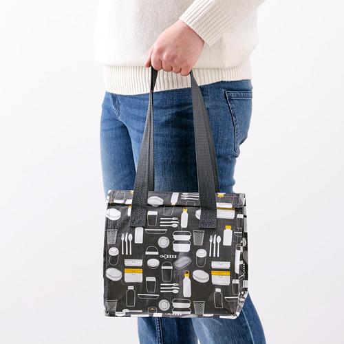 FLADDRIG - lunch bag, patterned grey | IKEA Hong Kong and Macau - PE816687_S4