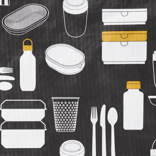 FLADDRIG - lunch bag, patterned grey | IKEA Hong Kong and Macau - PE816686_S4