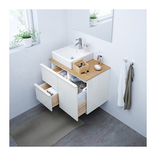 GODMORGON - wash-stand with 2 drawers, high-gloss white | IKEA Hong Kong and Macau - PE623802_S4