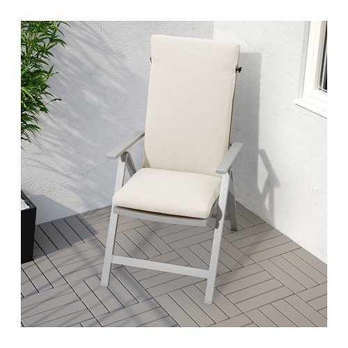 SJÄLLAND - reclining chair, outdoor, light grey foldable/light brown | IKEA Hong Kong and Macau - PE671796_S4