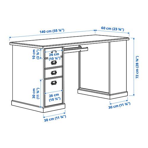 VEBJÖRN - desk, 140x60x72 cm, beige   IKEA Hong Kong and Macau - PE816710_S4