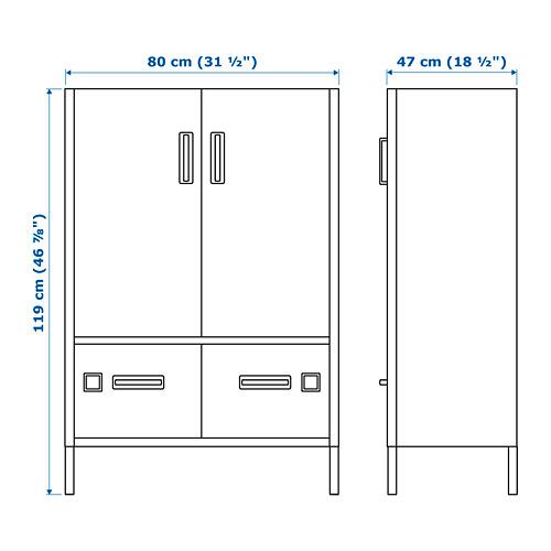 IDÅSEN - cabinet with doors and drawers, blue | IKEA Hong Kong and Macau - PE721490_S4