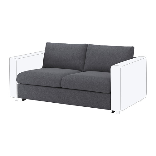 VIMLE cover for 2-seat sofa-bed section