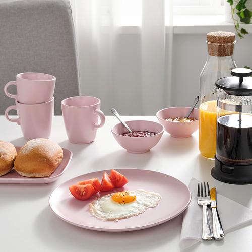 FÄRGKLAR - plate, matt light pink | IKEA Hong Kong and Macau - PE816910_S4