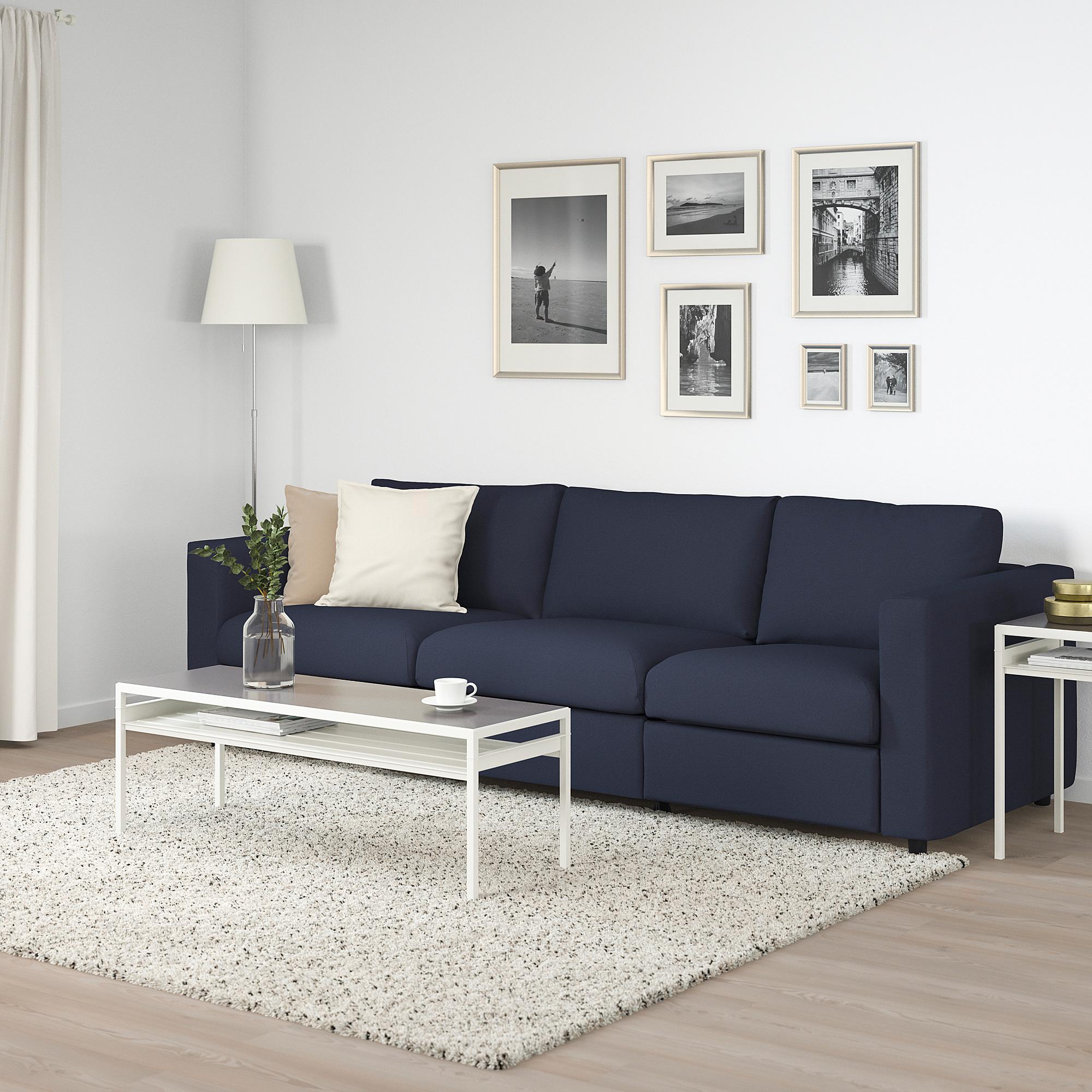 VIMLE   3 seat sofa bed, Orrsta black blue   IKEA Hong ...