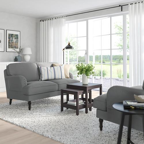 STOCKSUND - 2-seat sofa, Ljungen medium grey/black/wood | IKEA Hong Kong and Macau - PE762866_S4