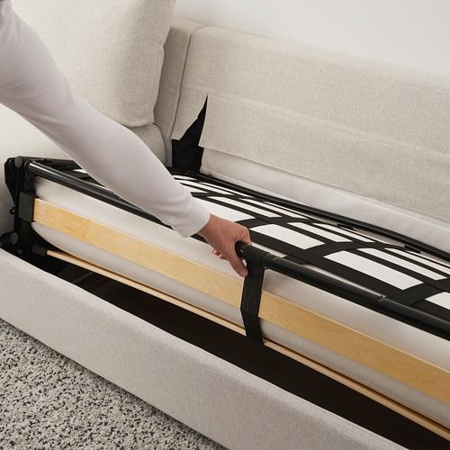VIMLE - 3-seat sofa-bed with chaise longue, Gunnared beige | IKEA Hong Kong and Macau - PE721669_S4
