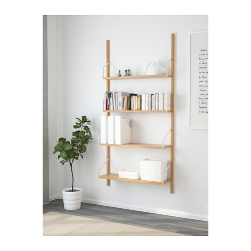 SVALNÄS wall-mounted shelf combination