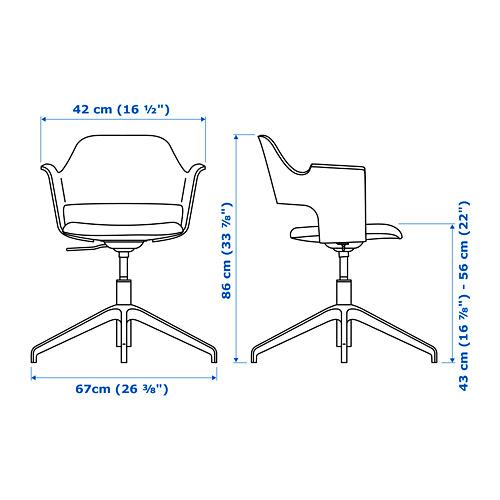 FJÄLLBERGET - conference chair, white stained oak veneer/Gunnared beige | IKEA Hong Kong and Macau - PE721645_S4