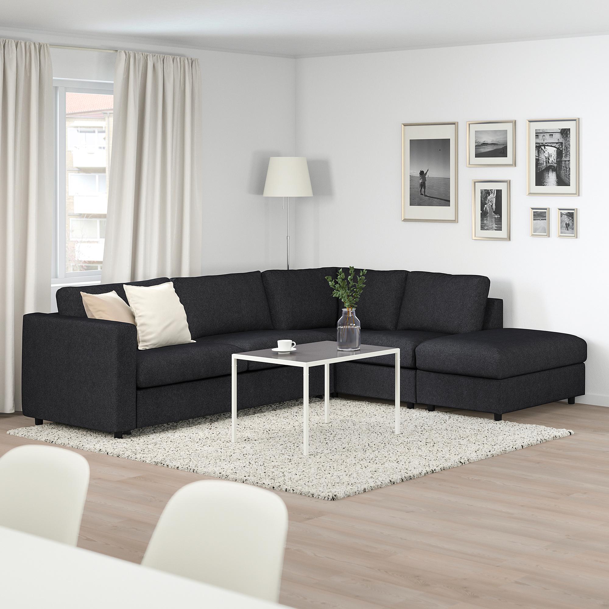 VIMLE   corner sofa bed, 4 seat, with open end/Tallmyra ...