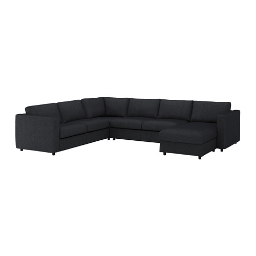 VIMLE cover for corner sofa-bed, 5-seat