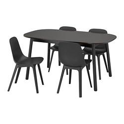 VEDBO/ODGER - 一檯四椅, 黑色/炭黑色 | IKEA 香港及澳門 - PE762973_S3