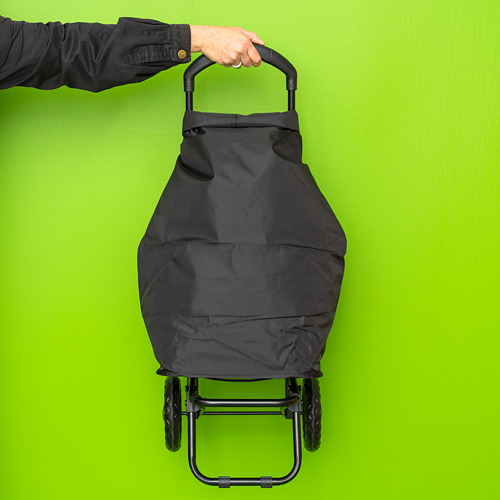 RADARBULLE - shopping bag on wheels, 38L, black | IKEA Hong Kong and Macau - PE817206_S4
