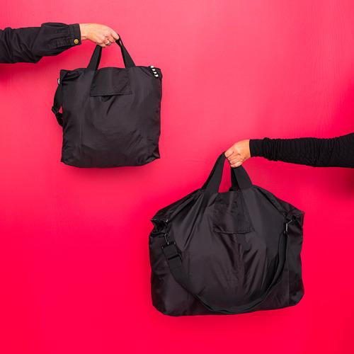 RÄCKLA - 可摺袋, 75x45 cm, 黑色 | IKEA 香港及澳門 - PE817207_S4