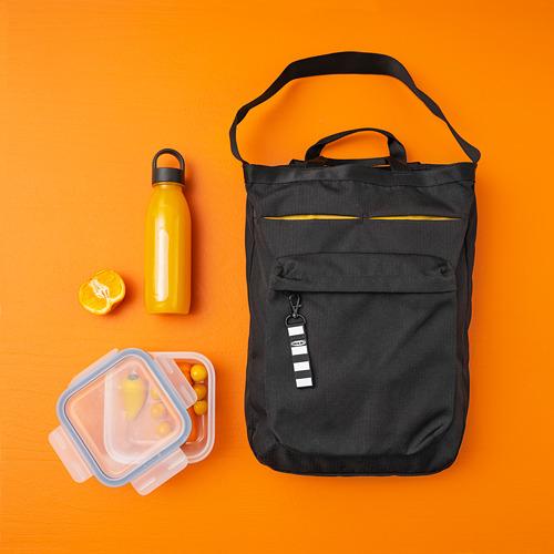 VÄRLDENS - travel tote bag, 16 l, black | IKEA Hong Kong and Macau - PE817217_S4
