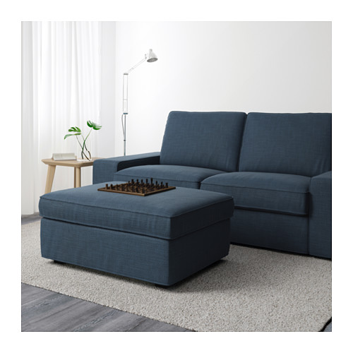 KIVIK footstool with storage