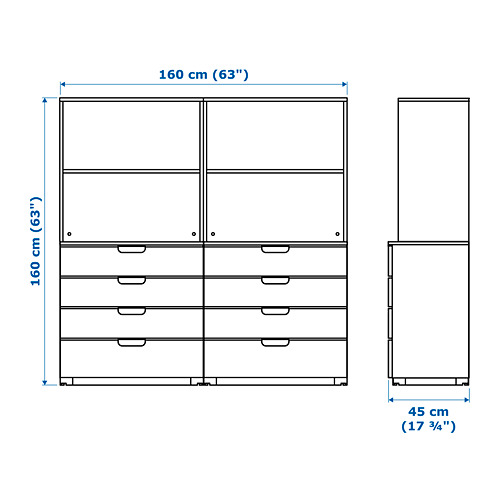 GALANT - storage combination with drawers, white | IKEA Hong Kong and Macau - PE721813_S4