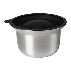 OMTÄNKSAM - mixing bowl with lid, stainless steel/light grey | IKEA Hong Kong and Macau - PE763128_S3