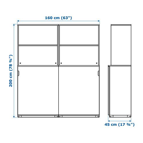 GALANT - 貯物組合連趟門, 染白橡木飾面 | IKEA 香港及澳門 - PE721838_S4