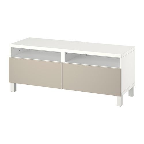 BESTÅ - 電視几連抽屜, white/Lappviken/Stubbarp light grey/beige | IKEA 香港及澳門 - PE817382_S4