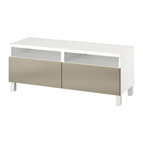 BESTÅ - TV bench with drawers, white/Riksviken/Stubbarp light bronze effect   IKEA Hong Kong and Macau - PE817394_S4