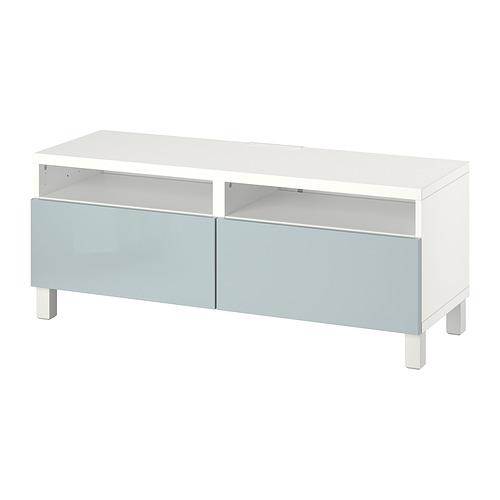 BESTÅ - 電視几連抽屜, white/Selsviken/Stubbarp light grey-blue   IKEA 香港及澳門 - PE817397_S4