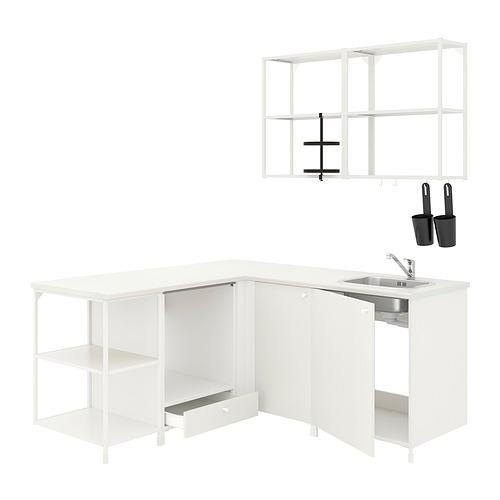 ENHET - corner kitchen, white   IKEA Hong Kong and Macau - PE817414_S4