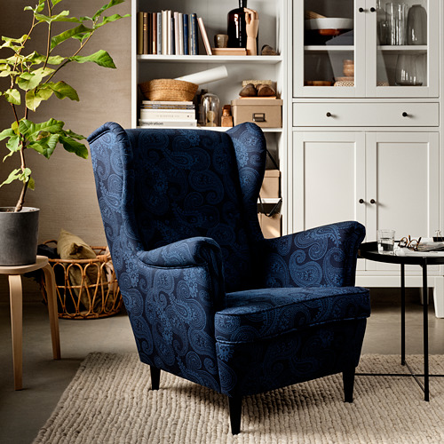 STRANDMON - 扶手椅, Kvillsfors 深藍色/藍色 | IKEA 香港及澳門 - PE817415_S4
