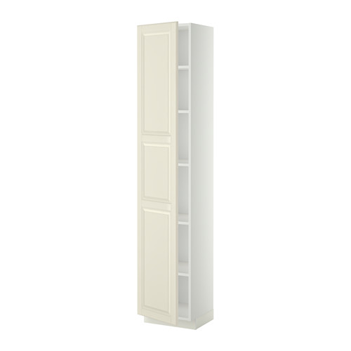 METOD - high cabinet with shelves, white/Bodbyn off-white   IKEA Hong Kong and Macau - PE339078_S4