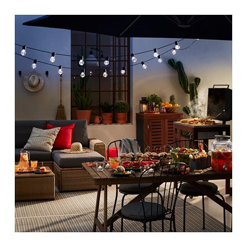 SOLLERÖN - modular corner sofa 4-seat, outdoor, with footstool brown/Frösön/Duvholmen dark grey | IKEA Hong Kong and Macau - PE721978_S4
