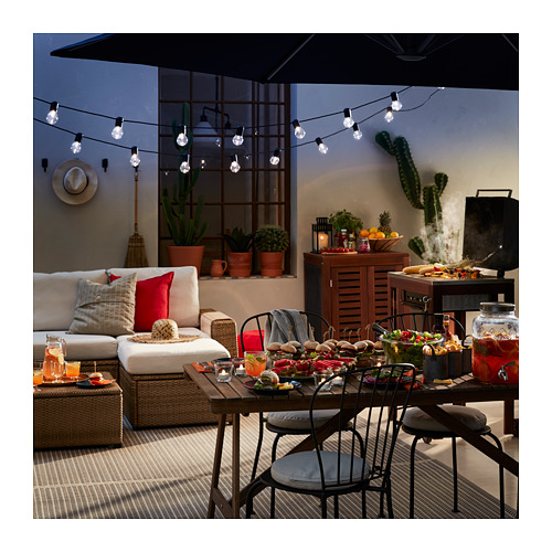 SOLLERÖN - modular corner sofa 4-seat, outdoor, with footstool brown/Frösön/Duvholmen beige | IKEA Hong Kong and Macau - PE721979_S4