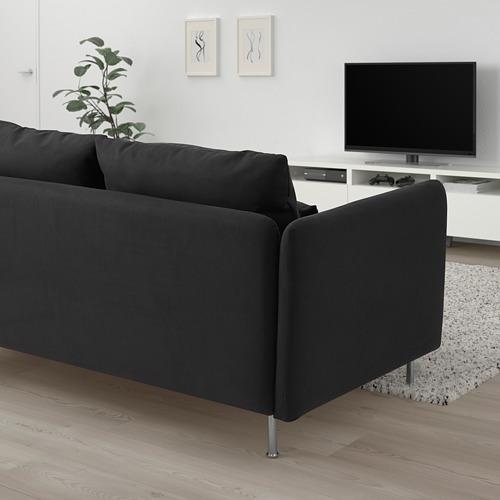 SÖDERHAMN - 小型三座位梳化套, Samsta 深灰色 | IKEA 香港及澳門 - PE817448_S4