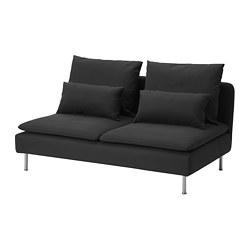 SÖDERHAMN - compact 3-seat section, Samsta dark grey   IKEA 香港及澳門 - PE817450_S3