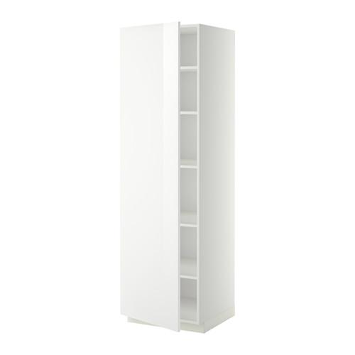 METOD - high cabinet with shelves, white/Ringhult white | IKEA Hong Kong and Macau - PE339039_S4