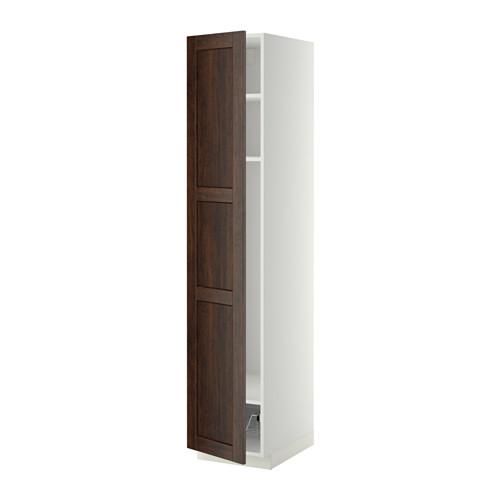 METOD high cabinet w shelves/wire basket