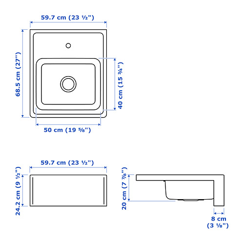 BREDSJÖN - sink bowl w visible front, stainless steel | IKEA Hong Kong and Macau - PE722021_S4