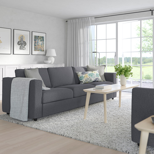 VIMLE - 3-seat sofa, Gunnared medium grey | IKEA Hong Kong and Macau - PE763196_S4