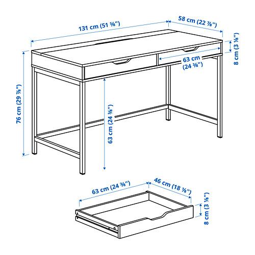 ALEX - desk, 131x58x76 cm, white | IKEA Hong Kong and Macau - PE817501_S4
