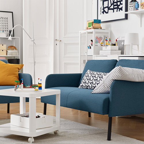 GLOSTAD - 2-seat sofa, Knisa medium blue   IKEA Hong Kong and Macau - PE817504_S4