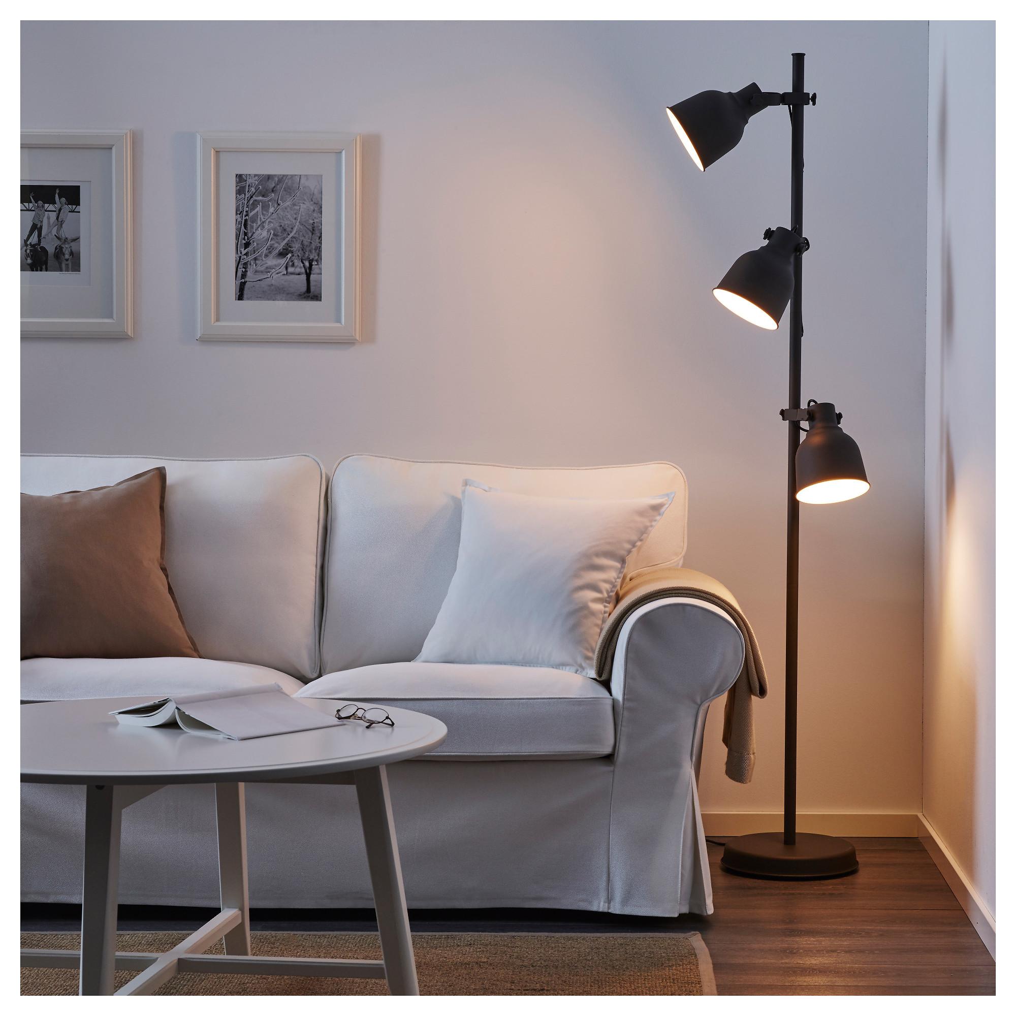 Hektar Floor Lamp With 3 Spot Dark Grey Ikea Hong Kong